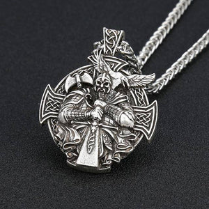 Odin Necklace, Handcrafted Necklace Silver With Chain