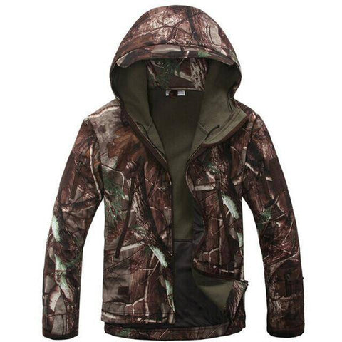 Image of Outdoor Softshell Jacket and Pants Hiking Jackets Tree Camouflage S