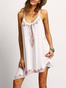 Gorgeous Boho Summer Dress Dresses White S