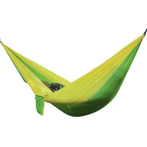 Image of 2 Person Outdoor Hammock Hammocks Yellow Green