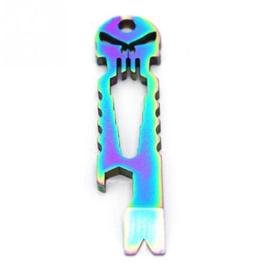 Stainless Skull EDC Pocket Tool Outdoor Tools Iridescent