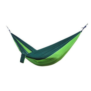 2 Person Outdoor Hammock Hammocks Green and Dark Green
