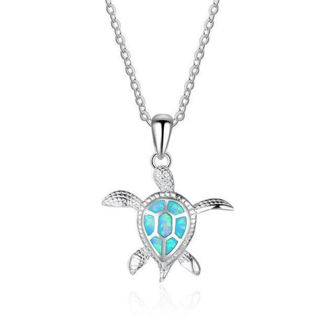 Blue Sea Turtle Pendant stlye 2