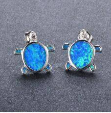 Blue Turtle Stud Earrings Stud Earrings style 1