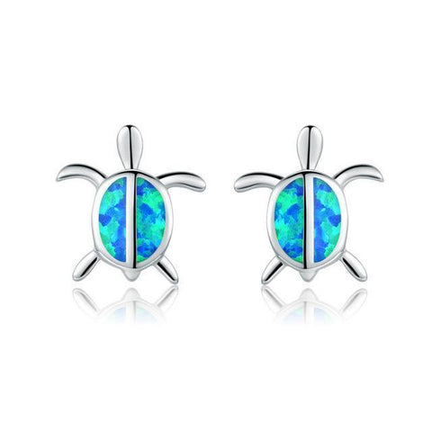 Blue Turtle Stud Earrings Stud Earrings style 2