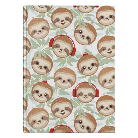 Happy DJ Sloth Journal | Hard Cover