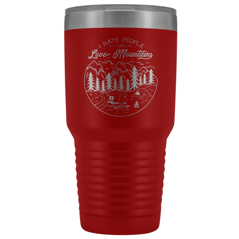 Image of Love the Mountains | 30oz Tumbler Tumblers Red