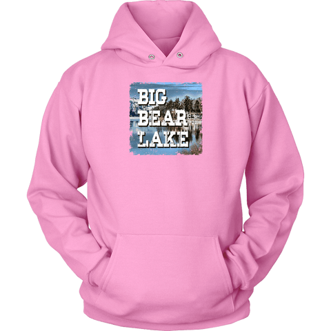 Image of Big Bear Lake V.1 Hoodies and Long Sleeve T-shirt Unisex Hoodie Pink S