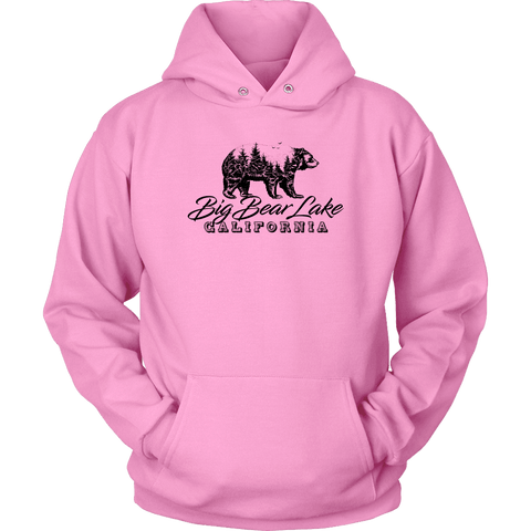 Image of Big Bear Lake California V.2, Hoodies and Long Sleeve T-shirt Unisex Hoodie Pink S