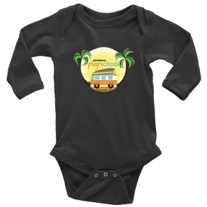 Newbreak Playschool Onesie T-shirt Long Sleeve Baby Bodysuit Black NB