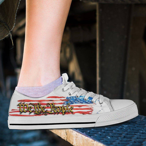 Image of We The People | Canvas Low Top Shoes