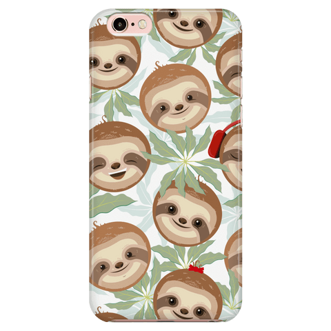 Happy Sloth Phone Case Phone Cases iPhone 7/7s/8