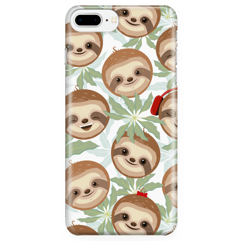 Happy Sloth Phone Case Phone Cases iPhone 7 Plus/7s Plus/8 Plus