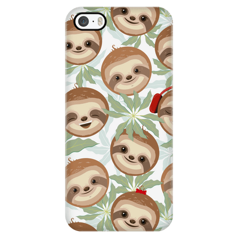 Happy Sloth Phone Case Phone Cases iPhone 5/5s