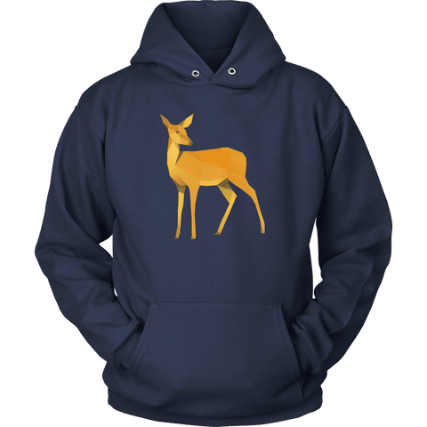 Image of Polygonal Doe T-shirt Unisex Hoodie Navy S