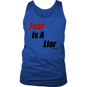 Fear is a Liar, Bold T-shirt District Mens Tank Royal Blue S