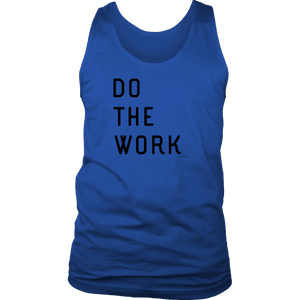 Do The Work | Mens | Black Print T-shirt District Mens Tank Royal Blue S