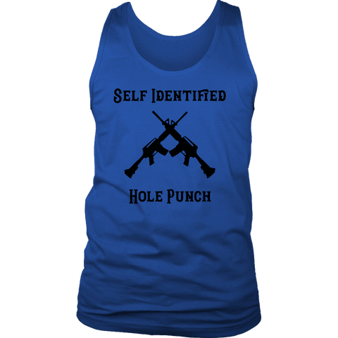 Self Identified Hole Punch T-shirt District Mens Tank Royal Blue S