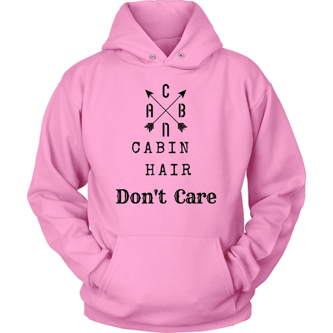 Image of CABN, Cabin Hair, Don't Care T-shirt Unisex Hoodie Pink S