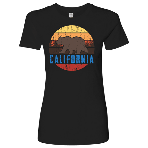 Image of Big Bear California Shirt V.1, Womens Shirts T-shirt Next Level Womens Shirt Black S
