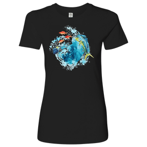 Dorado Fish T-shirt Next Level Womens Shirt Black S
