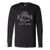 Mountains Spirit T Shirt 1 T-shirt Canvas Long Sleeve Shirt Black S