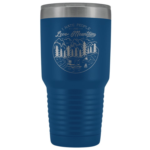 Image of Love the Mountains | 30oz Tumbler Tumblers Blue