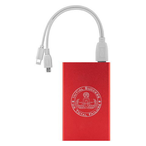 Image of Initial Success or Total Failure EOD Power Bank Power Banks Red