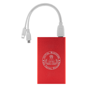 Initial Success or Total Failure EOD Power Bank Power Banks Red