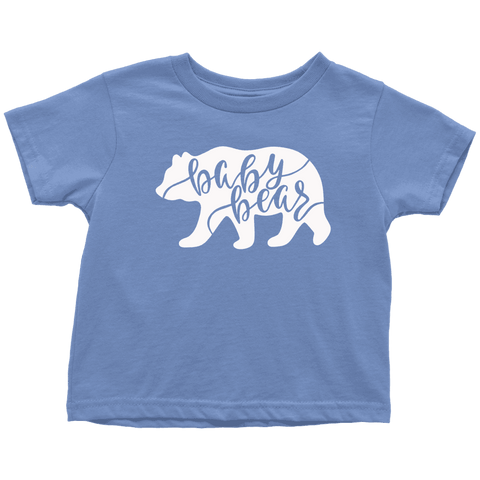 Baby Bear Shirts and Onesies T-shirt Toddler T-Shirt Baby Blue 2T