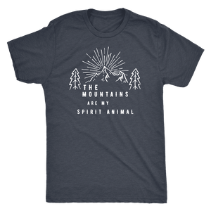 Mountains Spirit T Shirt 1 T-shirt Next Level Mens Triblend Vintage Navy S
