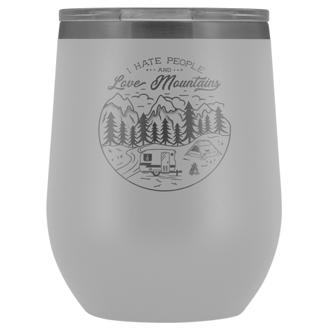 Love The Mountains | Wine Tumbler Wine Tumbler White