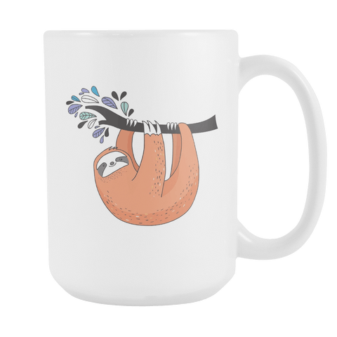 Image of Sloth Coffee Mugs Set 1 Drinkware Hanging Out 2