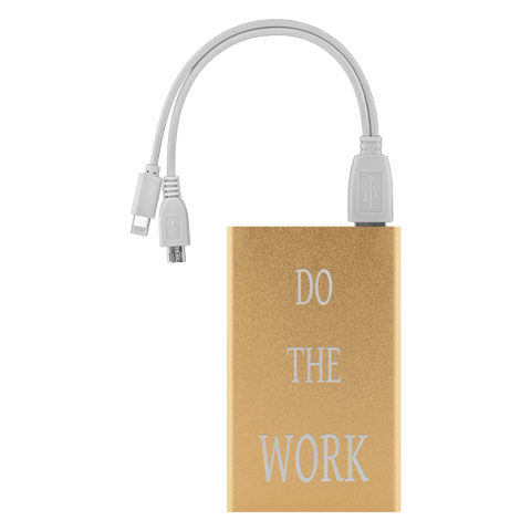 Image of Do The Work Power Bank Power Banks Gold