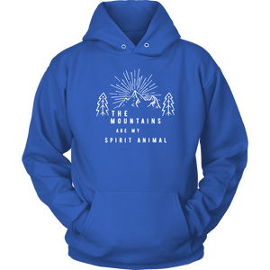 Mountains Spirit T Shirt 1 T-shirt Unisex Hoodie Royal Blue S