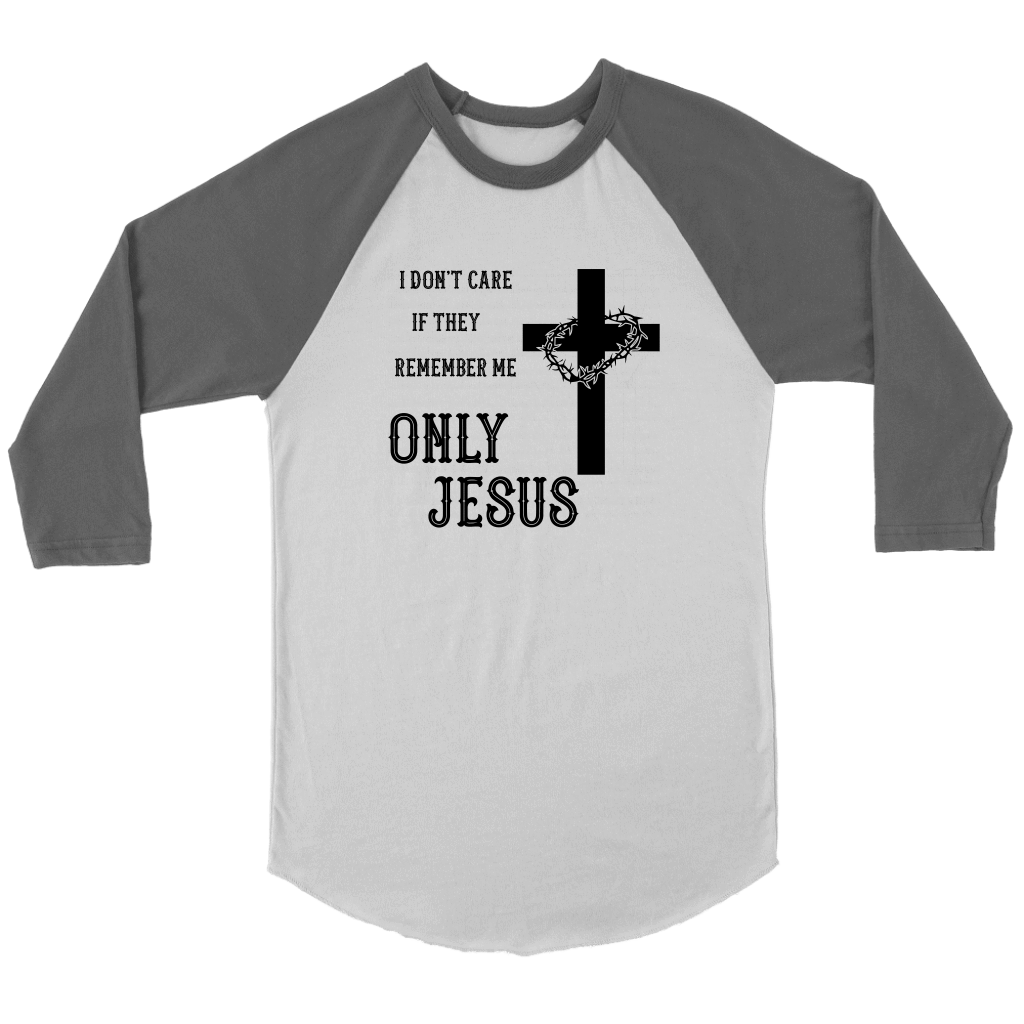 Only Jesus! Raglan Black Print