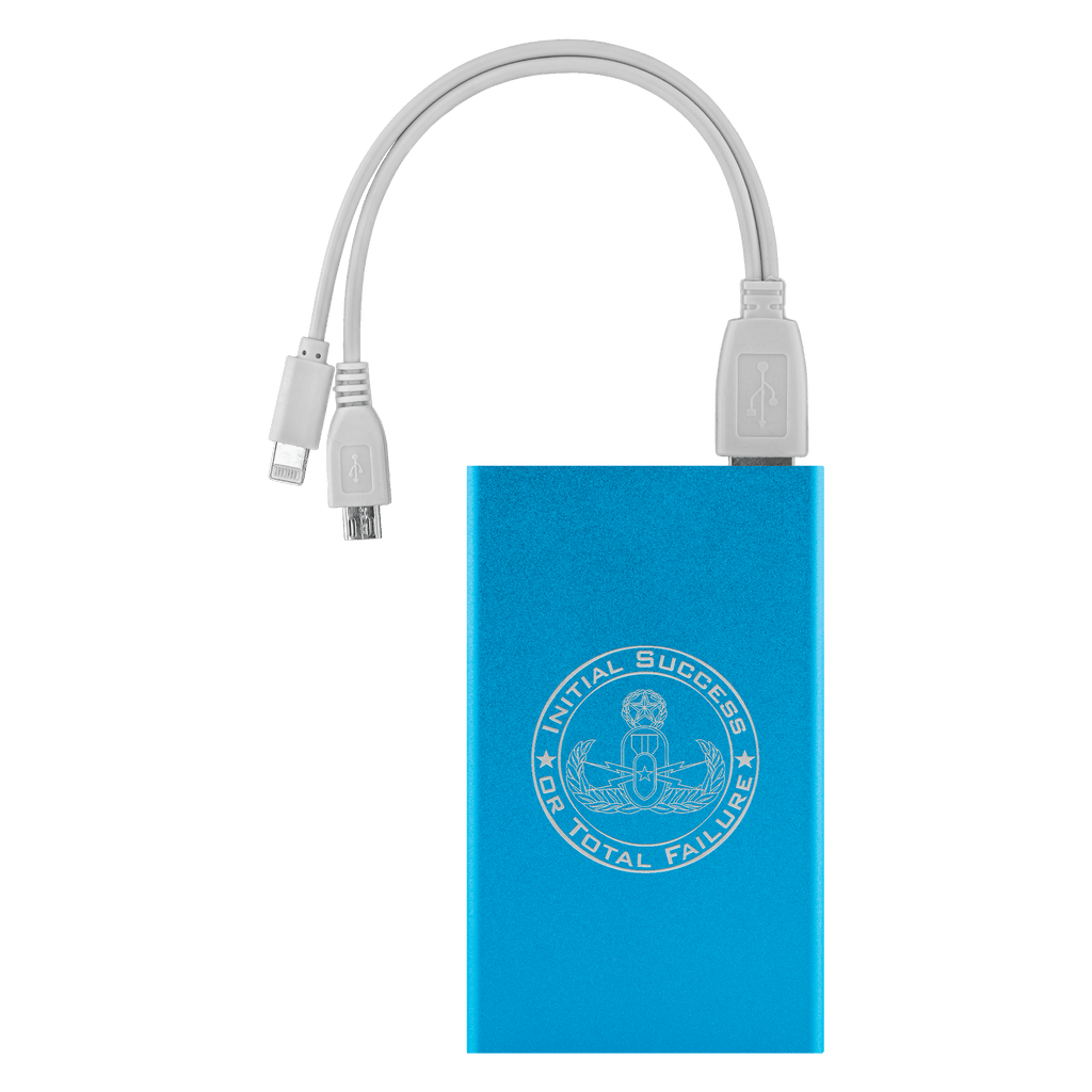 Initial Success or Total Failure EOD Power Bank Power Banks Light Blue