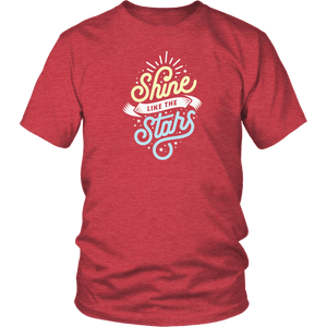 Shine Like The Stars T-shirt District Unisex Shirt Heather Red S