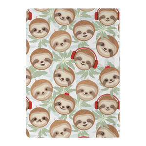 Happy DJ Sloth Soft Cover Journal