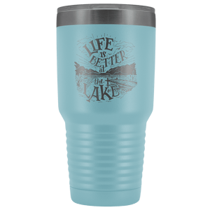 Life is Better at the Lake | 30 oz. tumbler Tumblers Light Blue