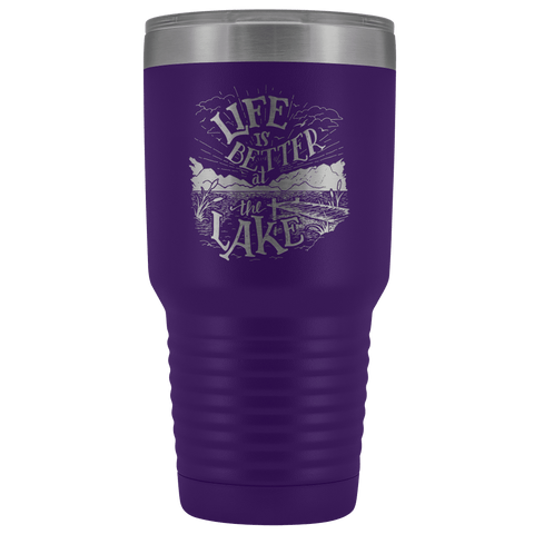 Image of Life is Better at the Lake | 30 oz. tumbler Tumblers Purple