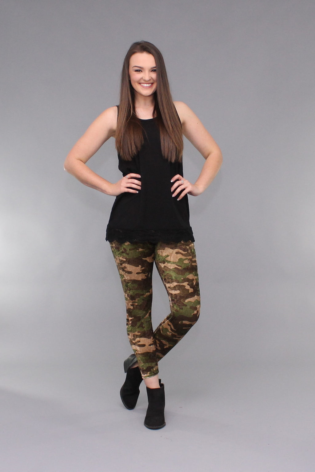 Velvet Camo Leggings