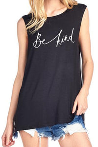 Be Kind Sleeveless Tee