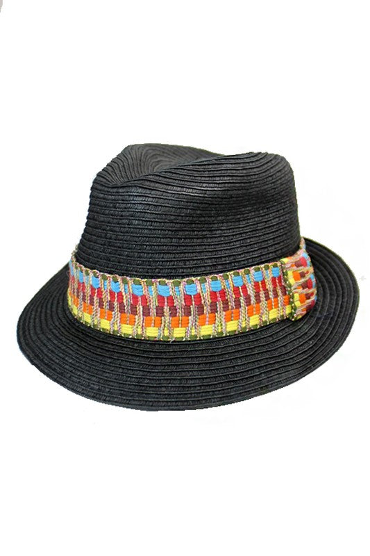 Boho Tribal Band Fedora