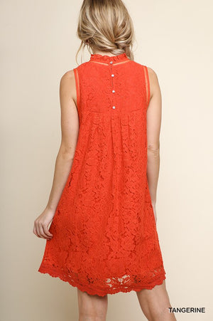 Floral Lace Embroidered Dress