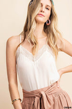 Satin Lace Cami