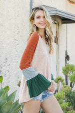 Color Block Sleeve Top