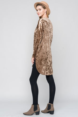 Crushed Velvet Tunic Dress