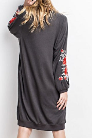 Slouchy Sweatshirt Dress