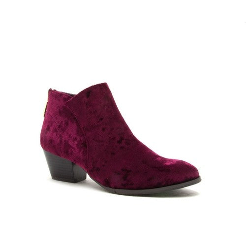 Crushed Velvet Bootie